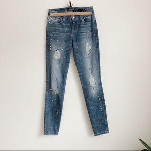 Guess Jeans - Guess Sexy Curve Embellished Denim Jeans | 25